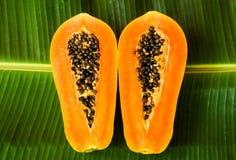 Papaya half cut Royalty Free Stock Images