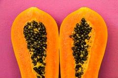 Papaya half cut Royalty Free Stock Image