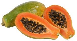 Papaya. Isolated Stock Image