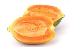 Papaya isolated on white Stock Photos