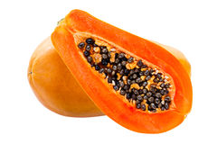 Papaya isolated on white Royalty Free Stock Images