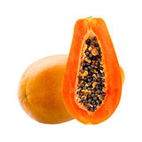 Papaya isolated on white Royalty Free Stock Image
