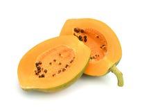 papaya isolerat Royaltyfri Fotografi