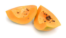 papaya isolerat Arkivbilder