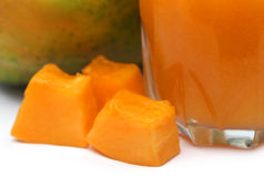 Papaya Juice Stock Image
