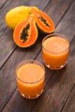 Papaya Juice Stock Photo