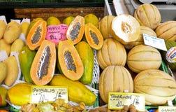 Papaya, Mango und Melone Lizenzfreie Stockbilder