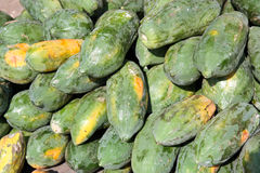 Papaya at market Royalty Free Stock Image