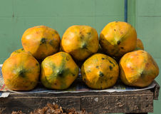 Papaya in market Stock Photos