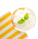 Papaya med yoghurt III Fotografering för Bildbyråer