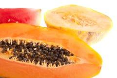 Papaya, melon and watermelon Stock Photo