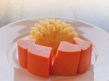Papaya- och ananasfrukt Arkivbilder
