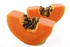 Papaya på vitbakgrund Royaltyfria Foton