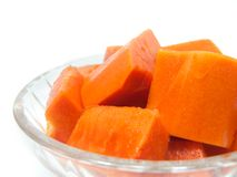 Papaya, papaya Imagen de archivo