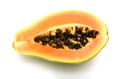 Papaya or paw-paw. On a white studio background Stock Photo