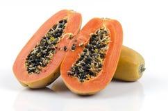 Papaya, Pawpaw, Tree melon (Carica papaya L.) Stock Photos