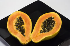 Papaya on a plate Stock Photography