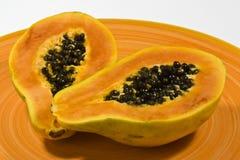 Papaya on a plate Stock Photography