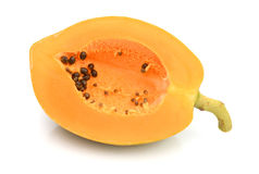Papaya. Ripe papaya isolated on white Stock Image