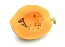 Papaya. Ripe papaya isolated on white Stock Photography