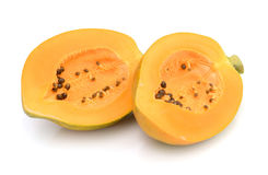 Papaya. Ripe papaya isolated on white Royalty Free Stock Photography