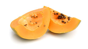 Papaya. Ripe papaya isolated on white Stock Photo