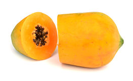 Papaya. Ripe papaya isolated on white Royalty Free Stock Photo