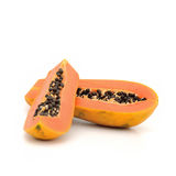 Papaya ripping isolate on white background Stock Photos