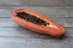 Papaya almost rotten Stock Photography