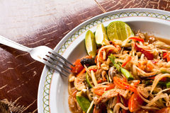 Papaya salad. Delicious thai style food,hot and spicy taste royalty free stock photography