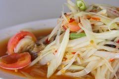 Papaya salad. Thai cuisine spicy delicious Stock Photos