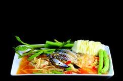 Papaya salad. With crab and vegetable Royalty Free Stock Image