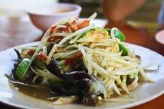 Papaya salad. Stock Photos