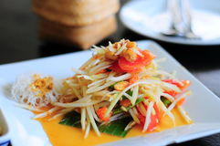 papaya salad. Stock Image