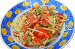 Papaya salad Thai food. Som tum is famous papaya salad in Thailand Royalty Free Stock Photo