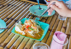 Papaya salad Royalty Free Stock Photos