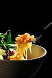 Papaya salad black background Royalty Free Stock Photos