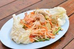 Papaya salad with blue crab Stock Photo