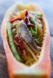 Papaya salad bowl Stock Images