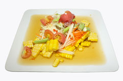 Papaya salad with corn, Thai spicy food Royalty Free Stock Image