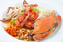 Papaya salad with crab Stock Images