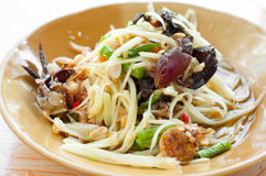 Papaya salad with crab Royalty Free Stock Images