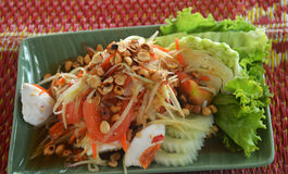 Papaya salad with crab Stock Photography