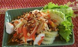 Papaya salad with crab Stock Photography