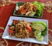 Papaya salad with crab Royalty Free Stock Image