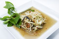 Papaya salad with crab Royalty Free Stock Photo