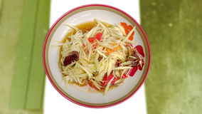 Papaya Salad and crab salty Stock Photography