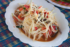 Papaya salad with crab Stock Image