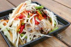 Papaya salad with crab Stock Images