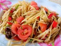 Papaya salad With crabs Royalty Free Stock Image